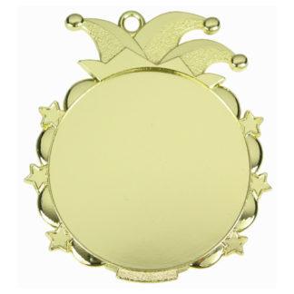 Gouden Carnavalsmedaille met labelprint 70 mm