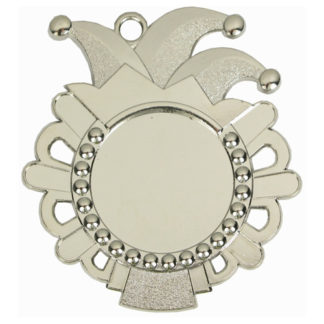 Zilveren Carnavalsmedaille met labelprint 57 mm