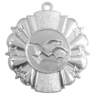 M222 Zilveren Carnavalsmedaille met labelprint 50 mm